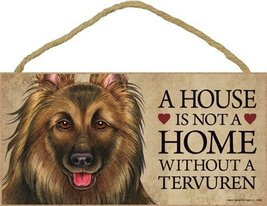 """A house is not a home without a (Belgian) Tervuren wood sign plaque 5"""" x... - $12.86"""