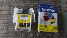 4#i    Genuine New Brother LC41Y, Yellow Ink Cartridge Sealed in Retail Box - $5.44