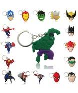 100pcs Cartoon Figure Marvel  Key Chain PVC Anime Superman Key Ring Batm... - $44.95