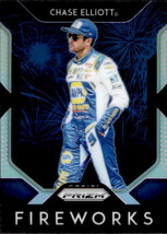 Chase Elliott 2019 Panini Prizm Silver Parallel Fireworks Card #F-4 - $2.00