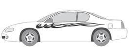 VINYL GRAPHIC #A727 SIDE DECAL AUTO SUV  VEHICLE CROSS OVER SWOOSH TRUCK... - $68.07