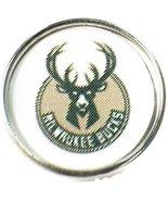NBA Basketball Logo Milwaukee Bucks 18MM - 20MM Snap Charm - $5.83
