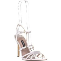 Nine West Gilficco Strappy Sandals, White Leather, 6.5 US - $27.83