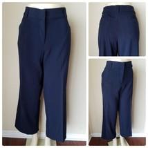 Kim Rogers Women's Pants Navy Blue Flat Front Dress Career Slacks Suit 1... - $22.31