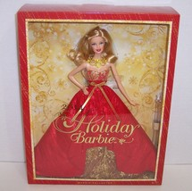 New! 2014 Holiday Barbie Doll Collector's Series with Stand {3050} - $39.25