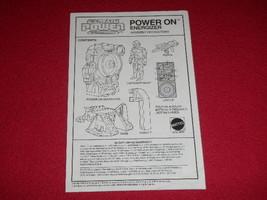 1987 Captain Power Assembly Instructions For POWER ON ENERGIZER Mattel V... - $14.01