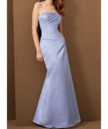 Alfred Angelo Bridesmaid Satin Dress Crystal Accents Lavender Style 6478... - $49.49