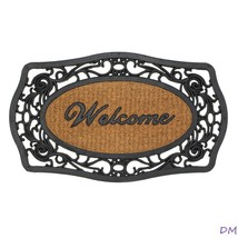 Embellished Scrolls Framed Indoor or Outdoor Welcome Door Mat Rug - $15.47
