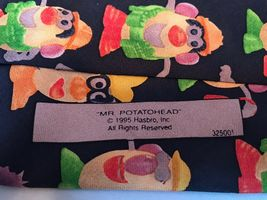 VTG Mr Potatohead Hasbro Ralph Marlin RM Style 1995 100% Silk Classic Neck Tie image 4