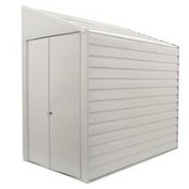 Storage Shed Metal Steel 4 x 7 Lockable Double Door Latch White Outdoor ... - $397.98
