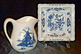 Pitcher (McCoy) and Ashtray (Blue Danube) AA20-2318 Vintage