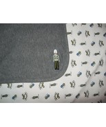 Gymboree Toy Soldier Baby Blanket Grey White Toys Blocks Rocking Horse 2000 - $34.53