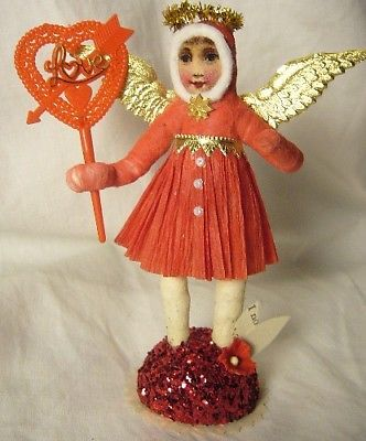 Vintage Inspired Spun Cotton Valentine Angel no. 140