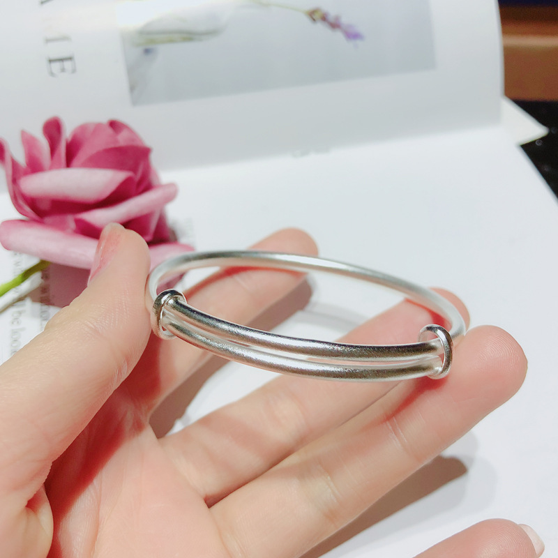 Pure silver 999 push-pull bracelet with pure silver image 4