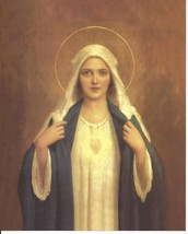 "Catholic Print Picture IMMACULATE HEART OF MARY C Bosseron Chambers 8x10"" - $14.01"