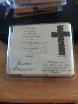Stampin Up Renewed Faith Wooden Stamp Set - Set of 4 - NEW - 2003 - $10.38