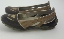 Merrell Oceania Brown Vibram Tread Slip on Athletic Barefoot Flats Women... - $19.79