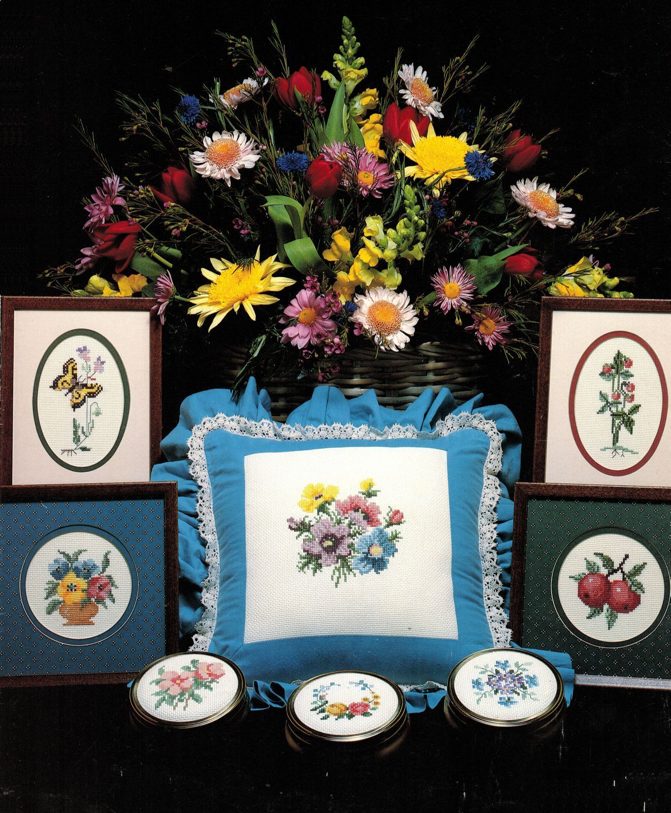 Primary image for Beginners Cross Stitch Lessons Flowers Bluejay Butterfly Gloria & Pat Pattern