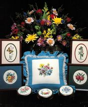 Beginners Cross Stitch Lessons Flowers Bluejay Butterfly Gloria & Pat Pattern  - $12.99