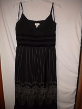 Ann Taylor LOFT 14 Black V Neck Spaghetti Strap Women LBD Cocktail Party... - $9.49