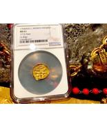 "MEXICO 1704 DATE 1 ESCUDO ""1715 PLATE FLEET SHIPWRECK"" NGC 61 PIRATE GOL... - $4,950.00"