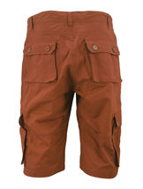 Men's Relaxed Fit Cotton Rust Multi Button Flap Pockets Cargo Shorts - 32 image 3