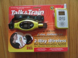 9O/TALK & TRAIN PET WIRELESS SYSTEM/2 MILES/FOR DOGS 30 LBS PLUS/NEW! - $39.43 CAD