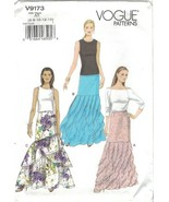 Vogue 9173 Tiered, Ruffled Maxi Skirt Floor Length Pattern Choose Size U... - $14.99