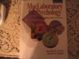 Student Laboratory Manual For MacLaboratory for Psychology: Research: Ve... - $3.00