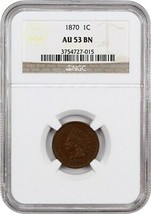 1870 1c NGC AU53 BN - Scarce Date - Indian Cent - Scarce Date - $523.80