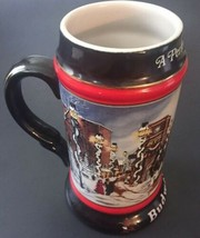 Budweiser A Perfect Christmas Stein 1992 Collector's Series Tall Mug Cly... - $9.89