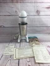 Vtg Hamilton Beach Classic Drink Master Milkshake Maker Cup Model 727 White - $19.79