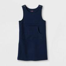 Cat & Jack Girls' Adaptive Sleeveless Uniform Jumper, Navy Blue, L (10/1... - $11.87