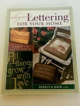 Elegant Lettering for Your Home Book 15 Painted Projects Decorative Pain... - $5.40