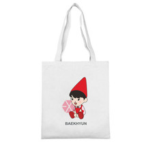KPOP EXO BAEKHYUN KAI Sling Bag Cartoon Canvas Backpack School Casual La... - $12.59