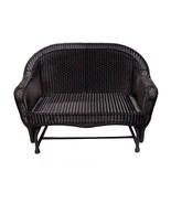 "LB International 51"" Black Resin Wicker Double Glider Patio Chair - $498.70"
