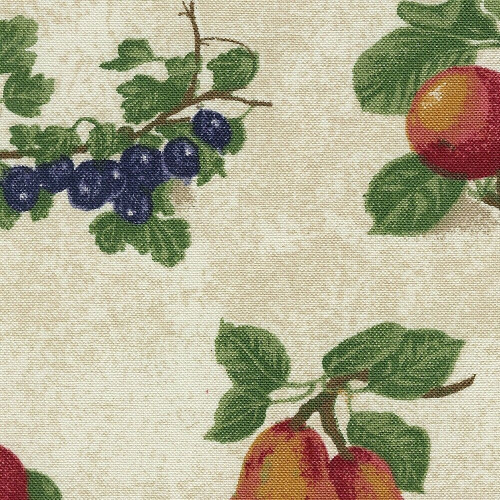 Primary image for Longaberger Small Boardwalk Basket Fruit Medley Fabric Over Edge Liner Only