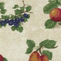 Longaberger Small Boardwalk Basket Fruit Medley Fabric Over Edge Liner Only - $11.83