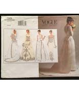 Vogue 1325 Wedding/Evening Gown, Sheath or Flare w Detachable Train Size... - $20.00