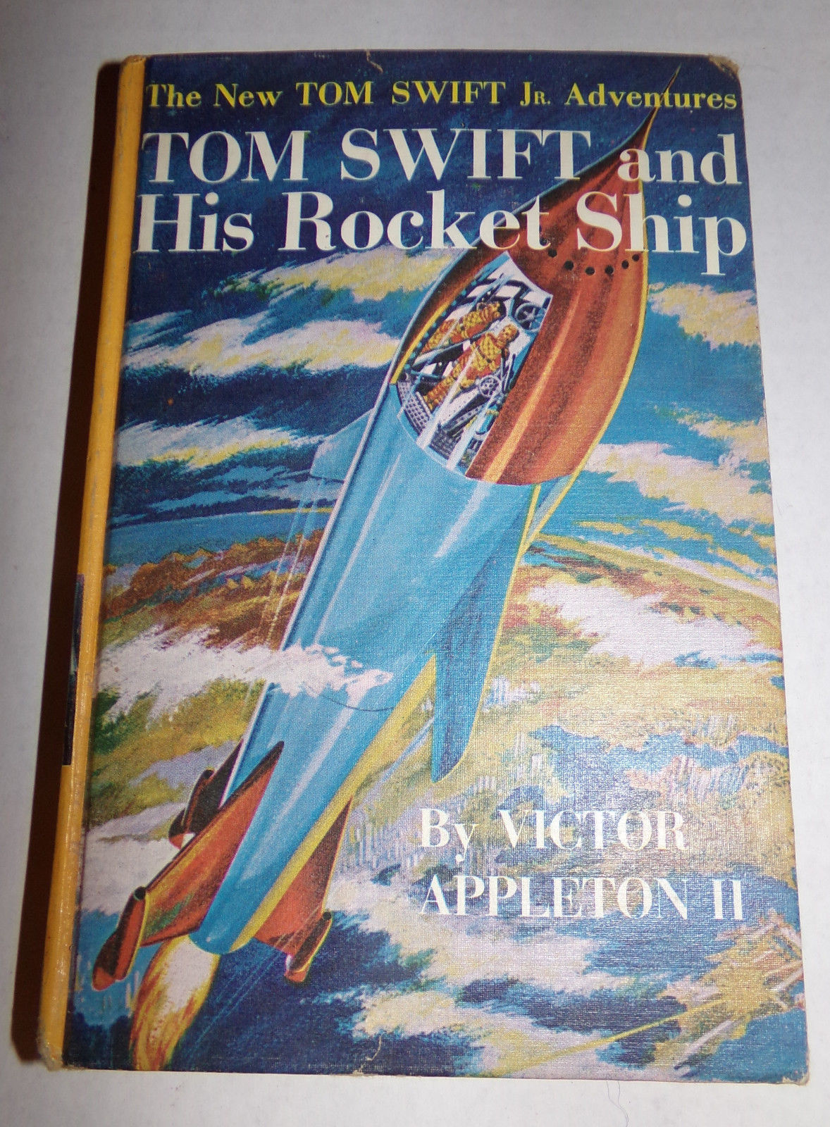 Vtg 1954 TOM SWIFT AND HIS ROCKET SHIP Victor Appleton II HC Book Illustrated