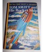 Vtg 1954 TOM SWIFT AND HIS ROCKET SHIP Victor Appleton II HC Book Illust... - $3.60