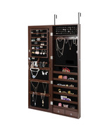 Wall Door Mounted Mirror Jewelry Cabinet Lockable Armoire Organizer  - $140.00