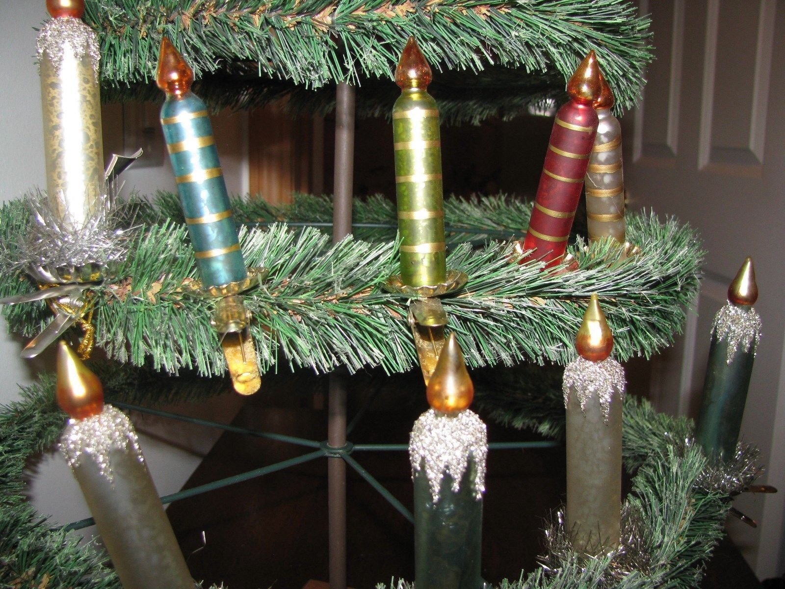 Bethany Lowe Christmas Ornaments.2 Candle Clip Ornaments Asst Colors Mercury And 50 Similar