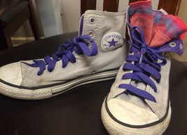 CHUCK TAYLORS CONVERSE GRAY PUNKY BREWSTER INSPIRED RARE SIZE 3 MULTICOLOR - $23.36