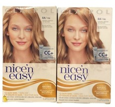 2 CLAIROL NICE'N EASY 8A - 106 Medium Ash Blonde Permanent Colorseal Conditioner - $28.70