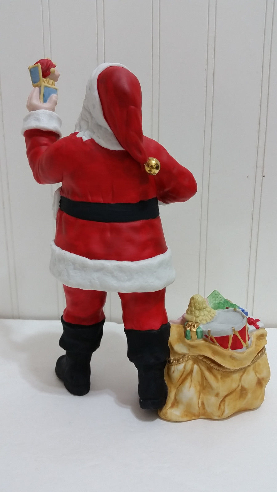 1990 LENOX Santa Claus Porcelain Figurine w/Box +COA Father Christmas Gifts Gold
