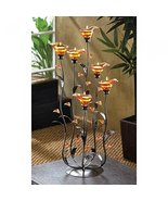 Candles AMBER CALLA LILY CANDLEHOLDER Candle Lilies Flower Amber Glass I... - $42.17