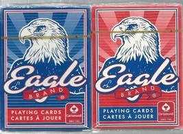 Cartamundi EAGLE Brand PLAYING CARDS 2 DECKS Blue & Red NEW - $7.91