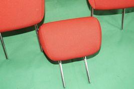 10-13 Kia Soul Rear Back Cloth 3 Headrests Headrest Set RED image 3
