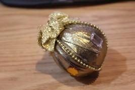 Handmade Gold Christmas Ornament - $8.60